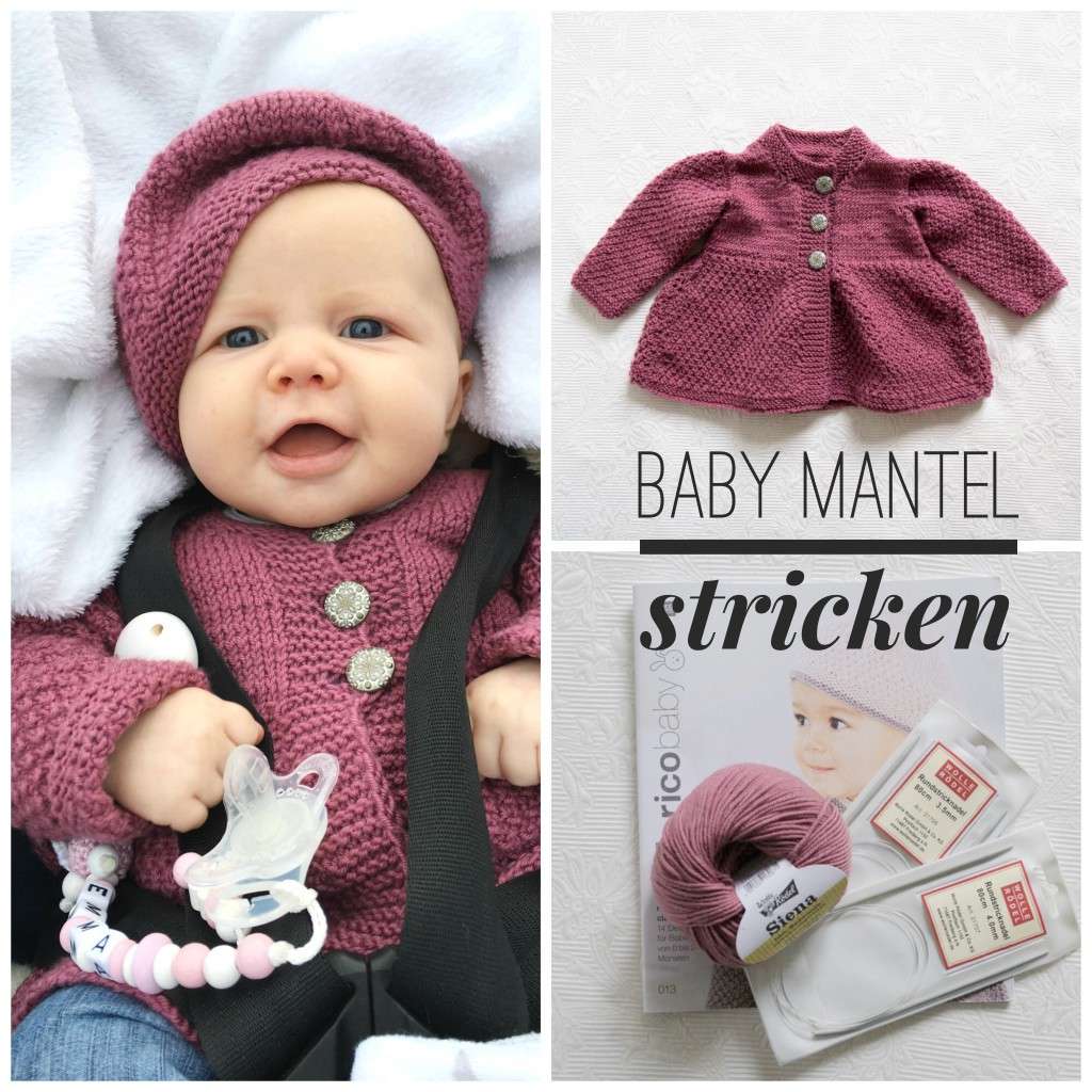 Baby Mantel selbst stricken - DIY bei www.crea-box.de