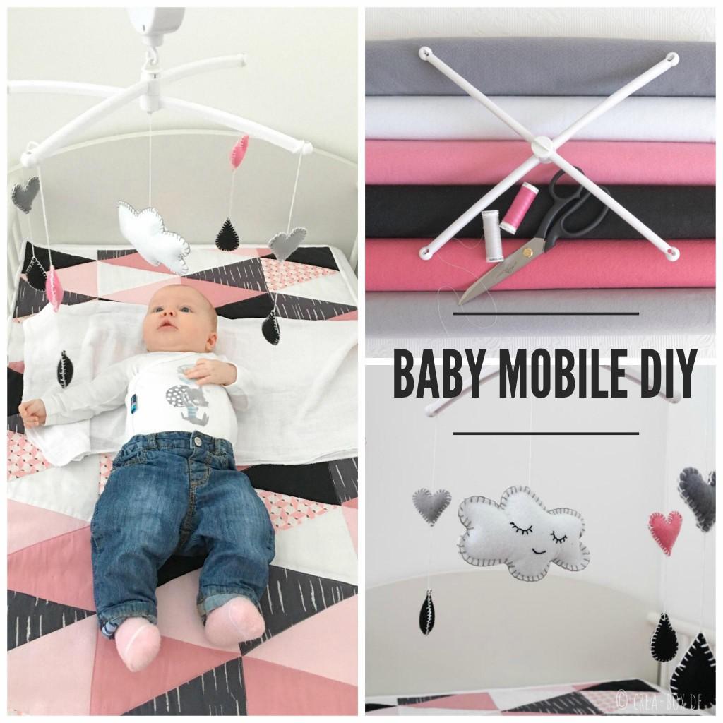 Baby Mobile DIY aus Filz bei www.crea-box.de, inklusive Schablone als pdf