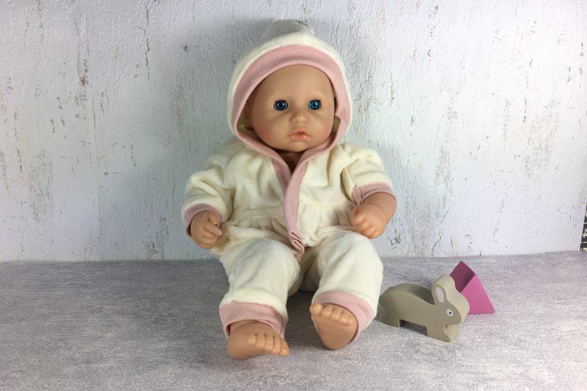 Kuschelanzug nähen für first baby annabell